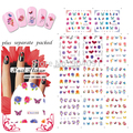 2014 NEW 50Sheet/LOT Flower nail art  WATER DECAL NAIL ART Accessories for water nail art stickers individually packaging