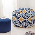 120x120 cm Padrão de Estilo Jardim Beanbag do Saco de Feijão Cadeira Cobre Sentado Em Qualquer Lugar Portátil Cushionthe Preguiçoso Sofá Sofá da Tela Moderna