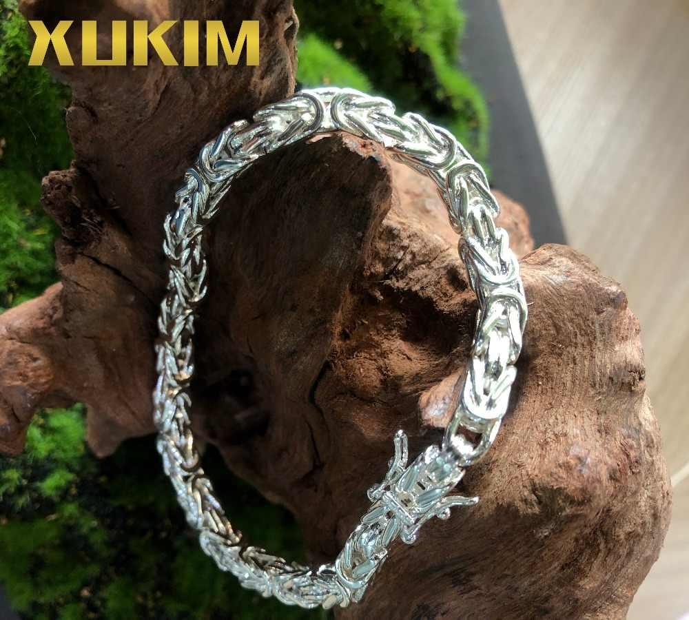 Xukim Ювелирная Золотая Византийская цепочка kejsarlzynk kejsarlank kejsarlalonk Золотая Серебряная Византийская цепочка браслет ожерелье