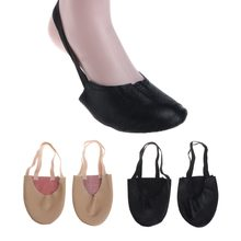 Basic Half Sole Stretch Slip-on Women's Lyrical Dance Shoe Girls Soft Ballet Toe Shoes Belly Dancing Shoes Wholesale(China)