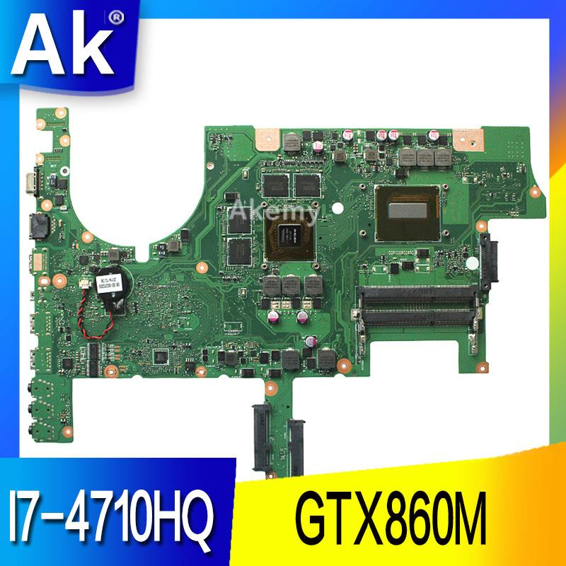 Carte mère d'ordinateur portable AK ROG G75J1M pour ASUS G751JM G751J G751 Test carte mère d'origine I7-4710HQ GTX860M
