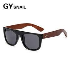 7bfcae432 GYsnail Óculos de madeira De Bambu De Madeira óculos de Sol dos homens  Retro Masculino Espelho Shades Óculos De Sol Para Homens .