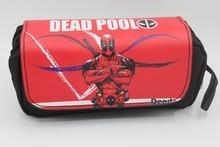 2017 New Deadpool Pencil Bag Student Stationery Bags Zipper school pen bags Makeup Case Cosmetic Bag pencil pouch
