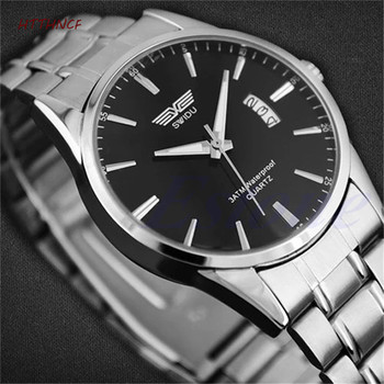 HTTHNCF Men Fashion Military Stainless Steel Big Dial Analog Sport Quartz Wrist Watch - discount item  32% OFF Men's Watches