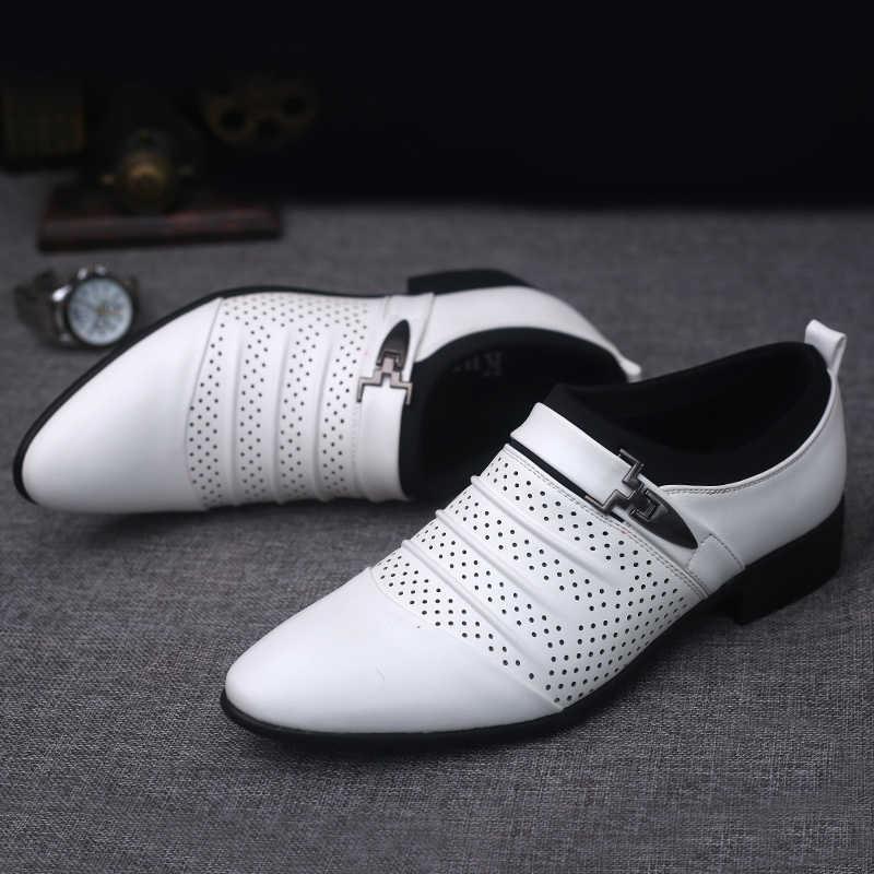 Designer luxe heren kleding schoenen lederen italiaanse loafers man schoenen formele party office bruiloft schoenen mannen klassieke herren schuhe