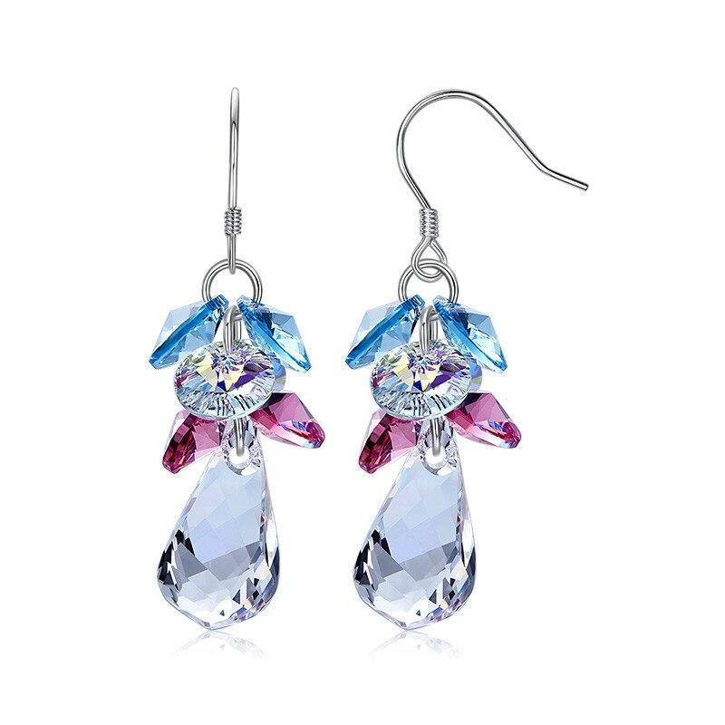 Heezen classique boucles d'oreilles en cristal strass gland boucles d'oreilles élégant Boucle D'oreille Bijoux de luxe cadeau boucles d'oreilles pour les femmes