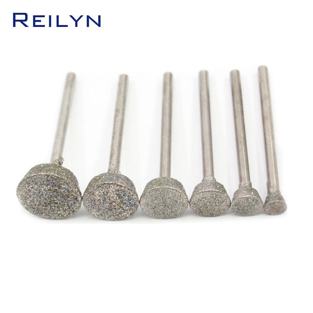 Coarse Grinding Bits Rough Abrasive Bits 3mm Emergy Diamond Bit Dremel Dremel Tools Polishing 6/8/10/12/14/16MM For Dremel