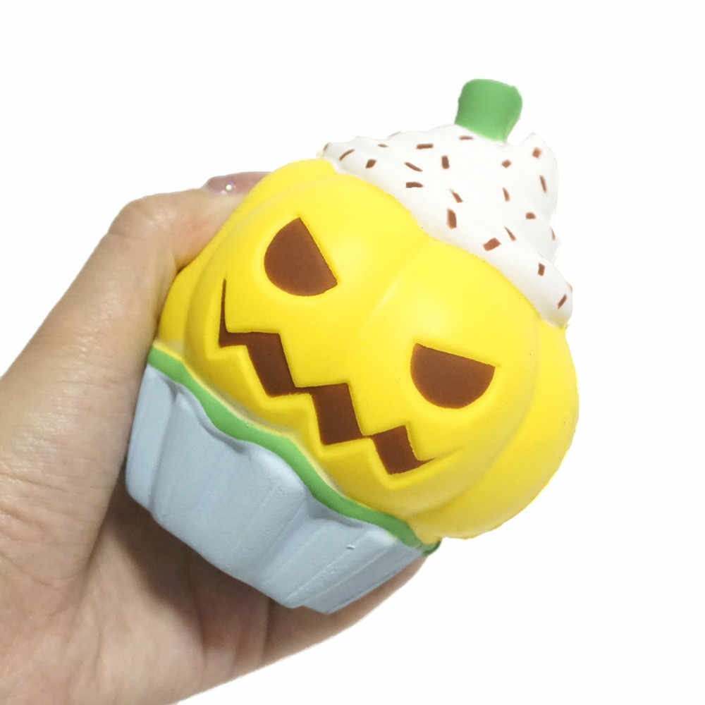 Pumpkin Ice Cream Squeeze Toy Slow Rising Cream Scented Stress Reliever Toy squishy caoutchouc relief toy yw0418