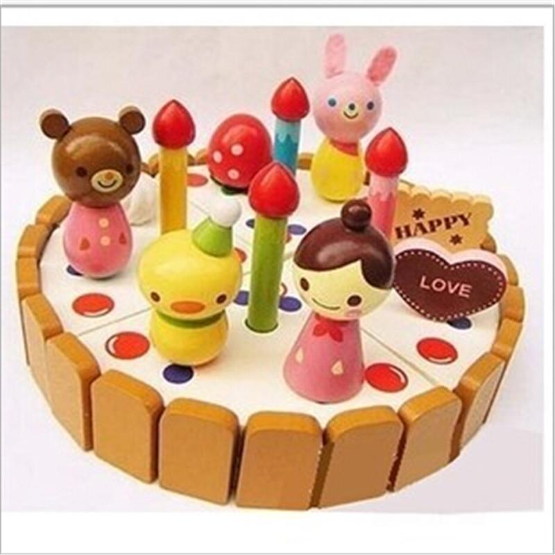 chica fresa de madera pastel de cumpleaos juguetes prtend juegan los juguetes de cocina para nios