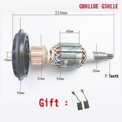 AC 220 V-240 V Armatura Rotore di ricambio Per BOSCH GSH11E GBH11DE GBH 11DE GSH 11E demolizione martello Perforatore elettrico parti di ricambio