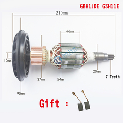 Reemplazo del Rotor de armadura AC 220 V-240 V para BOSCH GSH11E GBH11DE GBH 11DE GSH 11E martillo rotativo de demolición piezas de repuesto eléctricas