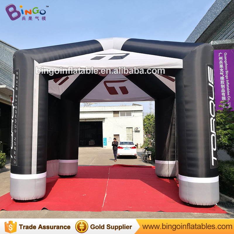 Promotional teepee type 5X5X5 meters large inflatable tent customized digital printed blow up games tent marquee with motor toys funny summer inflatable water games inflatable bounce water slide with stairs and blowers