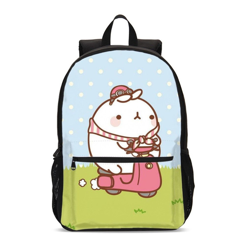 48008c2b9da5 US $24.49 50% OFF|Backpacks For Boys Girls Fashion Cartoon Cute Bunny  Molang 3D Printing School Bag Travel Laptop Backpack Bookbag Mochila  Escolar-in ...