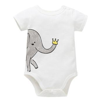 Unisex Top Quality Baby Rompers Short Sleeve Cottom O-Neck 0-24M Novel Newborn Boys&Girls Roupas de Baby Clothes 1