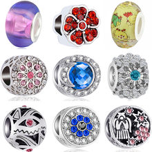 Luxurious Colorful Flowers Stars Robot Bell Moon Evil Eye DIY Beads Charms Fit Original Pandora Bracelets Trinket for Women Gift(China)