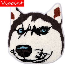 embroidery chenille dog patches for jackets,towel cartoon badges jeans,appliques backpack,A310