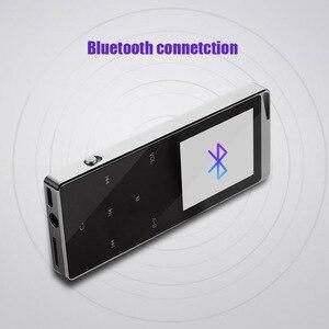 Image 5 - Kim Loại Sang Trọng MP4 Nghe Bluetooth Cho Người Chơi Di Động Slim MP3 MP4 Truyền Thông 2.4 Inch Phím Cảm Ứng Đài FM 16 GB/ 40GB Tặng