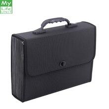 MyLifeUNIT 26 جيوب مجلد متسع لحفظ الملفات منظم حقيبة مقاوم للماء صندوق تخزين الأعمال مع مقبض مكتب التموين