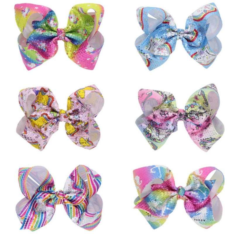 Large Sequin Bows Hair Clips For Kids Girls Boutique Handmade Big Bling Knot Jumbo Hair Bows Hairgrips Hair Accessories
