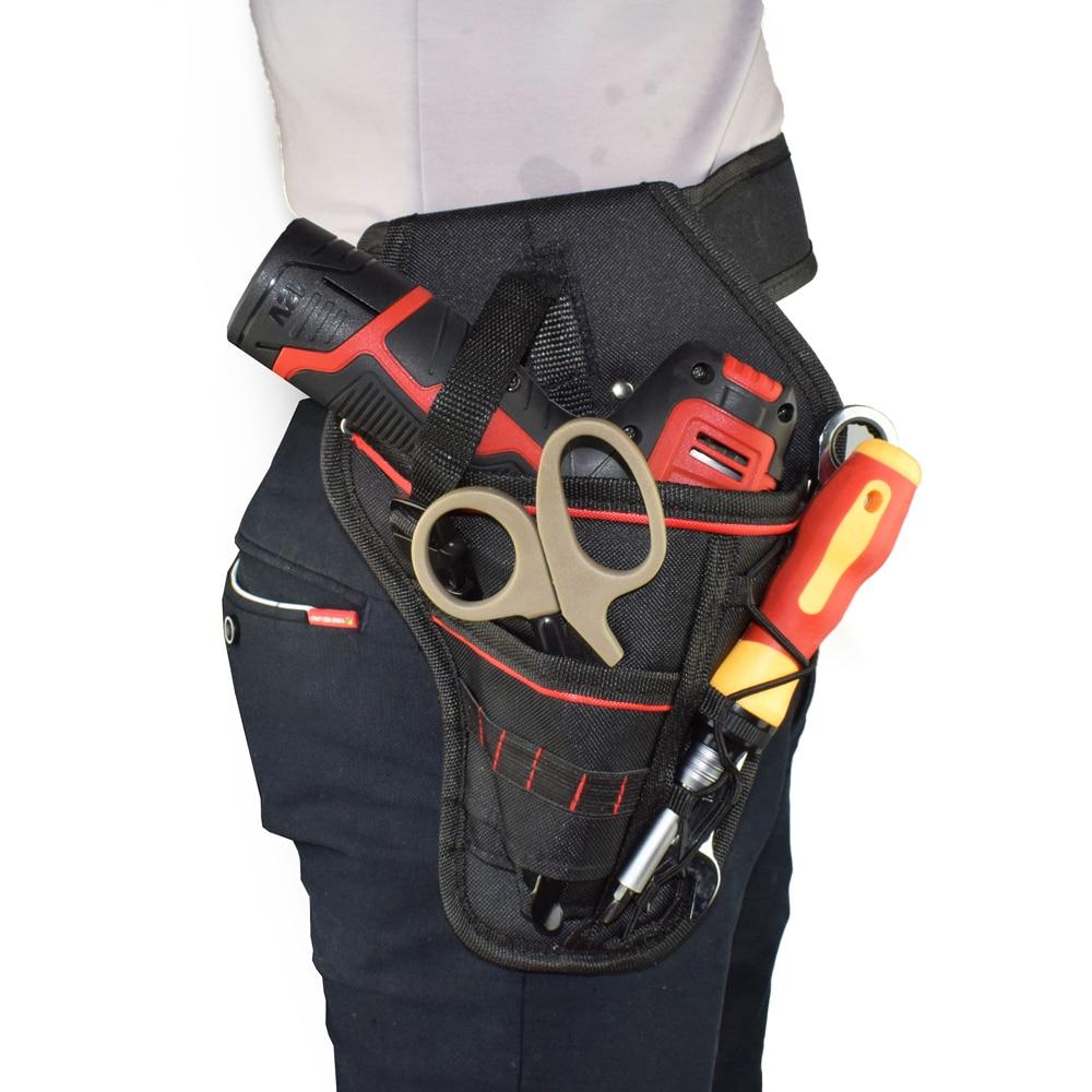 Waterproof Oxford Electrician Pocket Storage Waist Bag