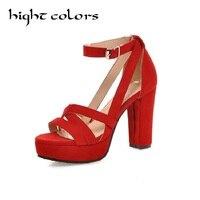 Summer Women Pumps Female High Heels Platform Elegant Shoes High Quality Fashion Roman Straps Fish Mouth Summer Pump Sandals