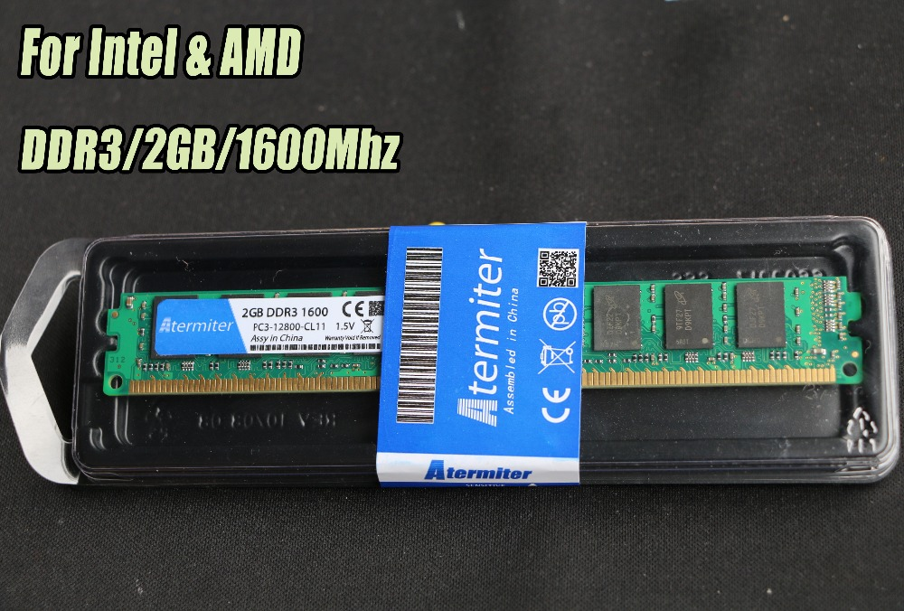 New 2GB DDR3 PC3-12800 1600MHz For Desktop PC DIMM Memory RAM 240 pins (For intel amd) Fully compatible System High Compatible