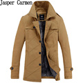 New Arrival Men's Cotton Trench Solid Fashion Jacket Thicken Winter Long Sleeve Coat Casual Slim Fit Parka-Free Shipping 86hfx