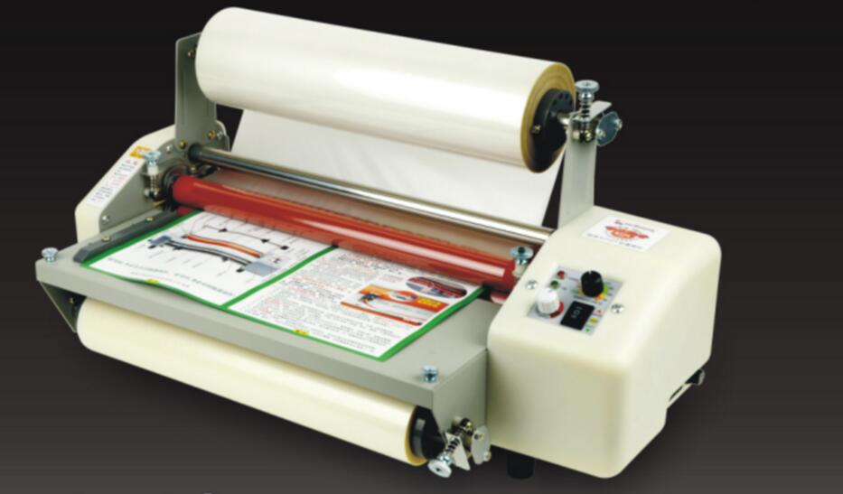 A4+ Laminator Four Rollers Hot Roll Laminating Machine Cold & Hot Laminator Speed Adjustable professional thermal office hot and cold laminator machine for a4 document photo packaging plastic film roll laminator