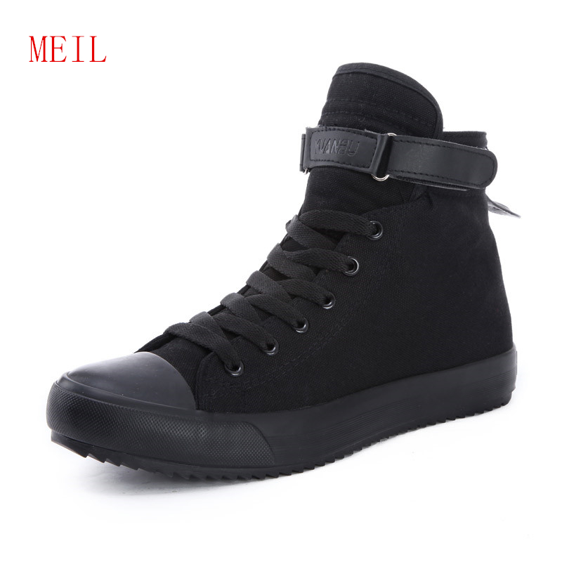 Hidden Increased 3 5 8CM Men Shoes Sale 2019 High Top Sneakers White Canvas Shoes Fashion Breathable Casual Black Shoes for Men in Men 39 s Casual Shoes from Shoes