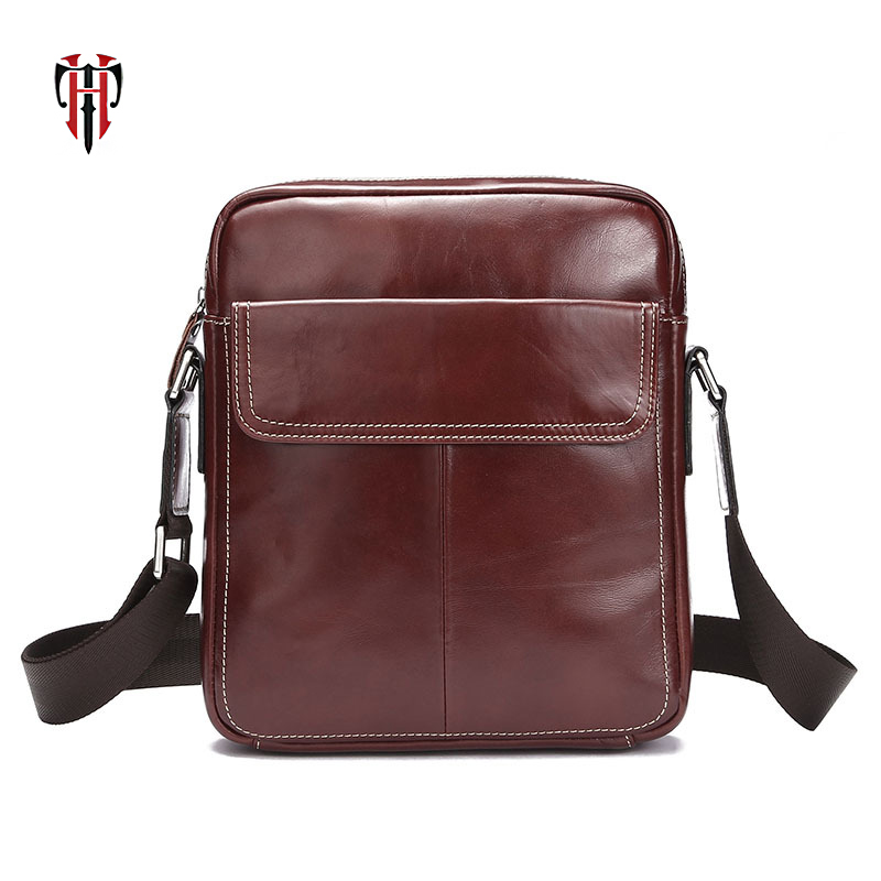 TIANHOO messenger bag flap oil- wax cow leather man shoulder simple Literary casual crossbody bags for menTIANHOO messenger bag flap oil- wax cow leather man shoulder simple Literary casual crossbody bags for men