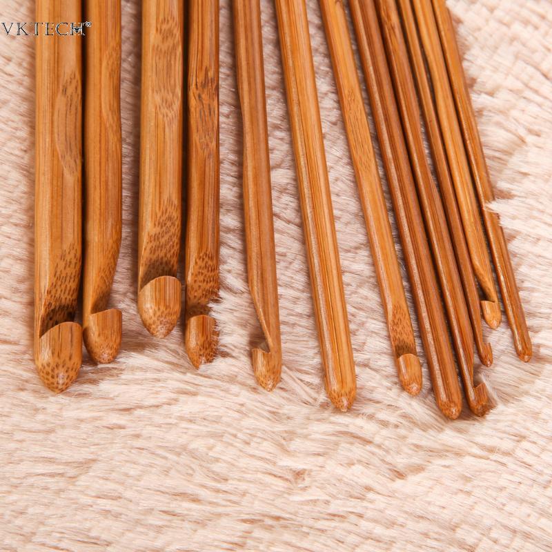 Naturel Bambou Crochet Aiguilles unique pointu Weave Knit Outils Bricolage Fournitures