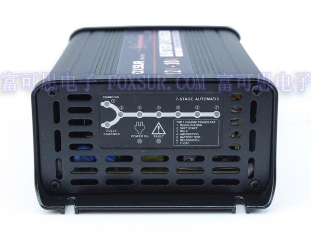 12 V 10A Cargador de Batería de Plomo de $ number etapas inteligente, cargador de batería de coche, controlado de MCU, carga del pulso