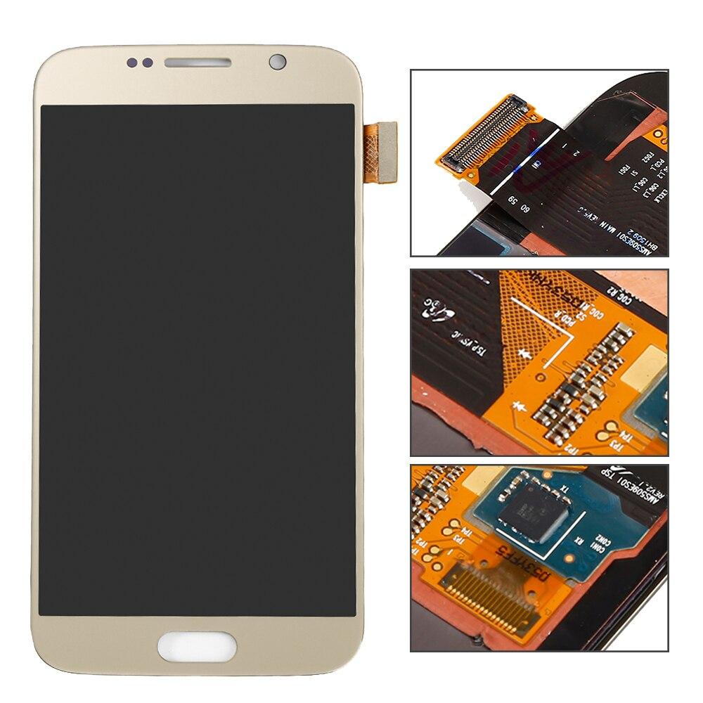 imágenes para DigRepair nueva pantalla lcd Para Samsung Galaxy S6 G920 G920f Oro LCD Pantalla Táctil con Digitalizador Asamblea completo pieza de recambio