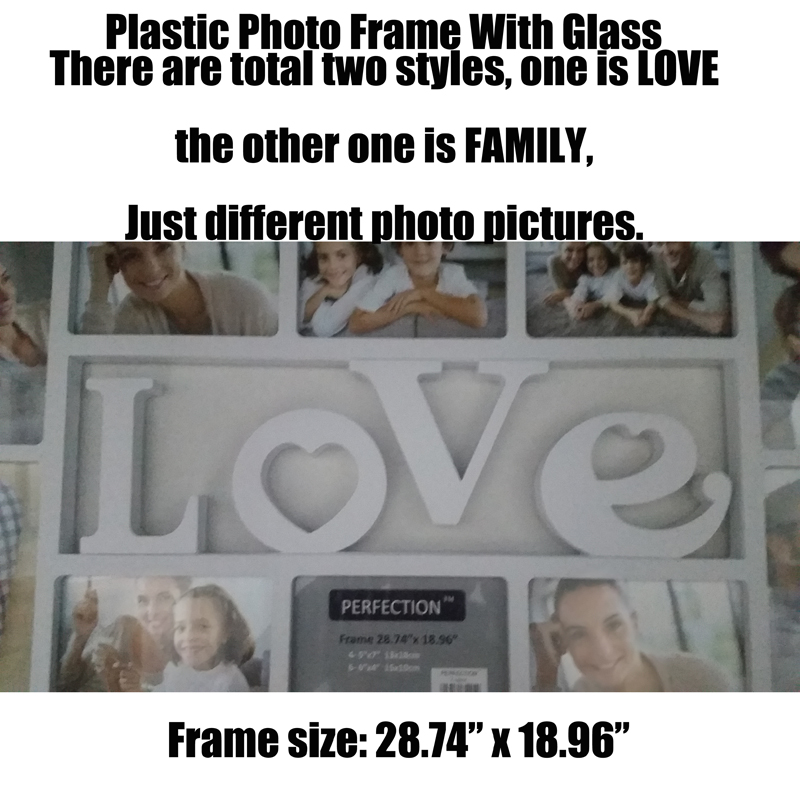 Family Love Pared Cuelgan de Cristal Marco de Fotos Marco de Foto ...