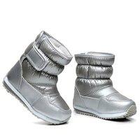 子供のラバーブーツ用女の子男の子半ばふくらはぎバンジーひも雪のブーツ防水女の子のブーツスポーツの靴毛皮裏地キッズブー