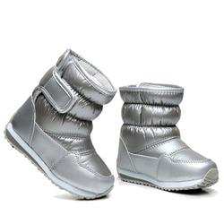 Kalosze dziecięce dla dziewczynek chłopcy połowy łydki Bungee sznurowanie śniegowe buty wodoodporne dziewczęce buty sportowe futrzana podszewka dziecięce buty w Buty od Matka i dzieci na
