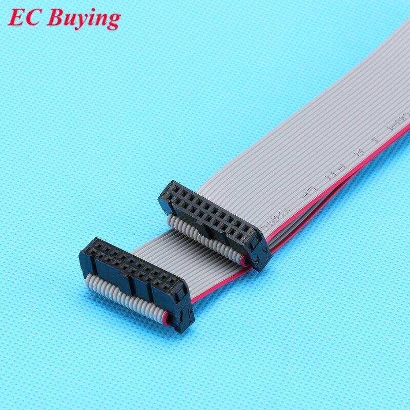 10 шт./лот FC-20p 2.54 мм Шаг JTAG AVR скачать кабель Провода разъем серый плоский кабель для передачи данных 2x10 булавки 20 Шпильки 30 см