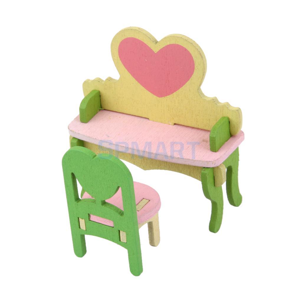 3 комплекта 14 шт. красочные деревянные 1:12 Кукольный Миниатюрный Мебель Спальня Ванная комната Столовые гарнитуры кукла украшение дома Асса