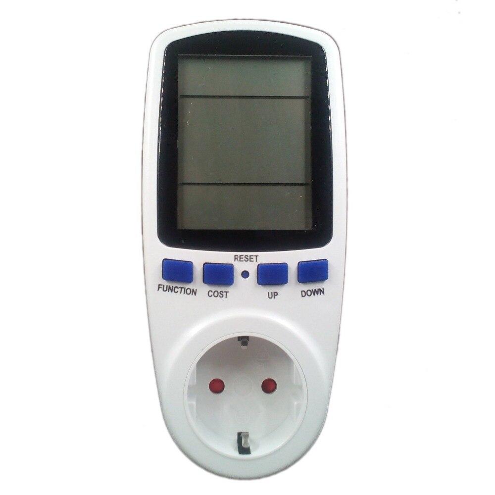 EU Plug Power Energy Watt Voltage Amps Meter Analyzer Tester with Power Electricity Usage Monitor EU Energy Meter digital electric power energy meter tester monitor watt meter analyzer energy saving lamps tester hp9800 digital voltage meter