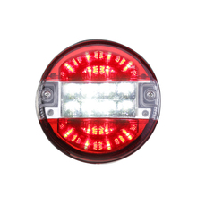 2 Pcs 24V LED Car Tail Lights Waterproof Warning Lamp for Trailer Boat Caravan Red White/Red Yellow