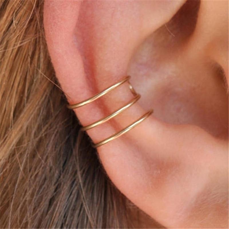 Handmade  Fake Ear Cuff Jewelry Charm No Piercing Clip Earrings 14 Gold Filled Customizable Earrings for Women Brincos Oorbellen