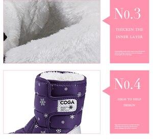 Image 5 - Bottes de neige pour filles, chaussures dhiver pour filles, baskets chaudes, en peluche, imperméables, à la mode