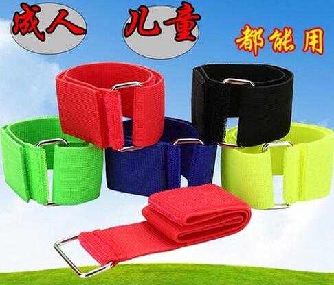 50x5CM Adjustable Elastic Ankle Strap Team Unity Building Games Playground Three-Legged Game Props image