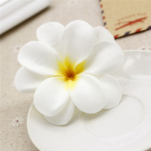 7CM artificial flowers head Plumeria Frangipani Egg Flowers DIY Wedding Decoration Party Supplies Wreath 5pcs/bag royal worcester serendipity egg cup 7cm