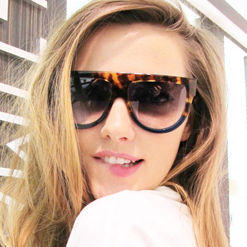 Woman Flat Top Mirror Sun Glasses Cat Eye Sunglass...