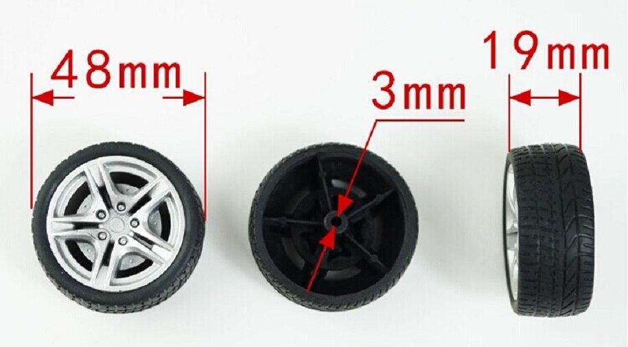 1 Stks/partij K347b 48mm Diameter Rubber Speelgoed Banden Wiel Hub Diy Speelgoed Auto-onderdelen Verkopen Met Verlies Usa Wit-rusland Oekraïne Kortingen Sale