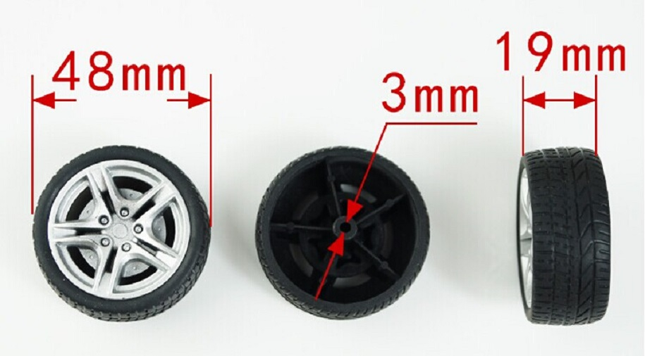 1pcs/lot K347B 48mm Diameter Rubber Toy Tires Wheel Hub DIY Toys Car Parts Sell At A Loss USA Belarus Ukraine 1pc j391 80mm diameter rubber wheel 1 16 simulation separable model car wheel remote car plastic hub free shipping russia