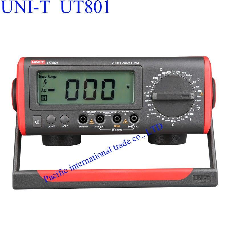 UNI-T UT801 Bench Type/Desktop Digital Multimeter with Thermometer, LCD Display, Data Hold Automatic Range  Ammeter Multitester  цены