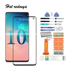 """Get more info on the Front Glass Replacement For Samsung Galaxy S10 G970 6.1"""" S10 Plus G975 6.7"""" LCD Front Outer Glass Lens With Set Tool"""
