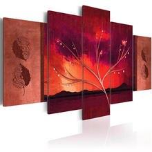 5 шт абстрактные холст в отрасли живописи плакаты и принты оранжевые